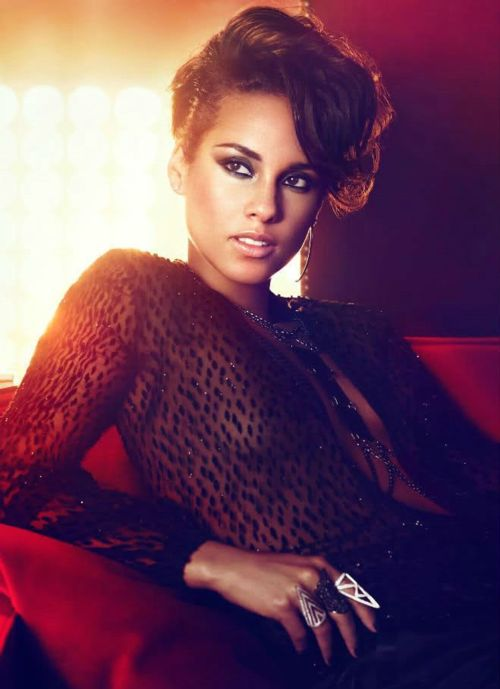 Alicia Keys short hair (always love a little pompadour)