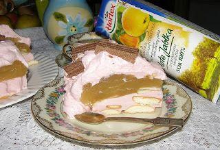 W Mojej Kuchni Lubię.. : smaczny deser z sokiem jabłkowym i jogurtem z bisz...