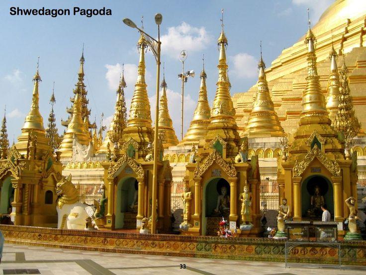 半日:ヤンゴン市内観光(マーケット、シュエダゴン・パヤー他)、昼食無