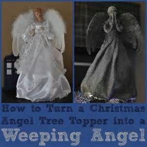 DIY Weeping Angel Christmas Tree