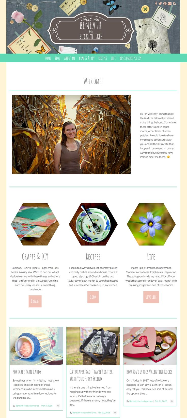 LOVE the use of color and creative images in this blog design running off an Angie Makes Theme. Just lovely!
