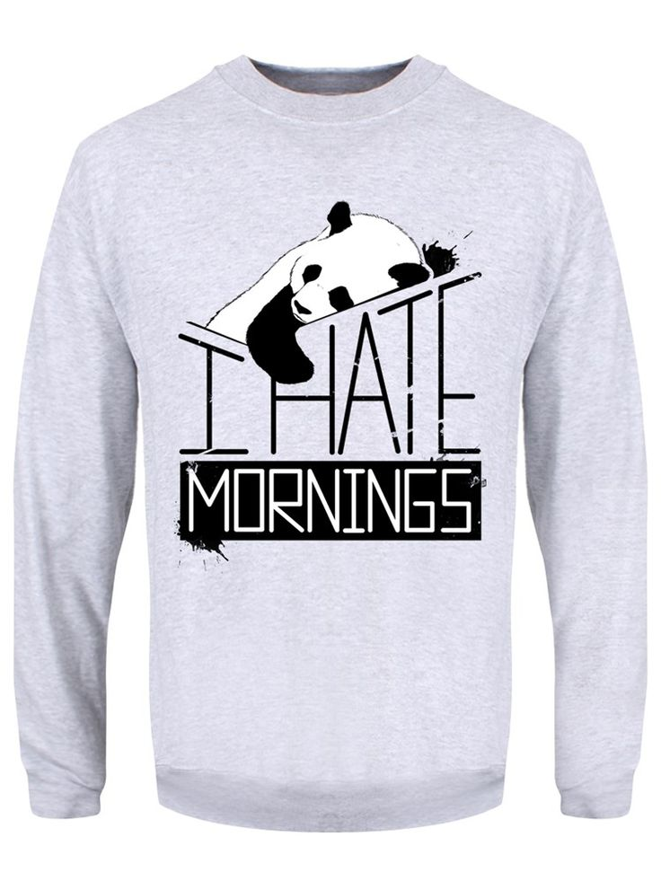 I Hate Mornings Grey Sweater Mens Sweater   UK Store   Oneposter.com