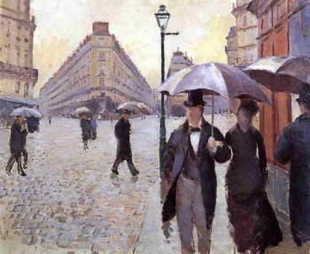 Paris Street: A Rainy Day (study) - Gustave Caillebotte - The Athenaeum