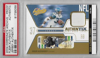 2002 Fleer Authentix SHAUN ALEXANDER CORPORATE ARCHIVE PROOF 1/1 PSA