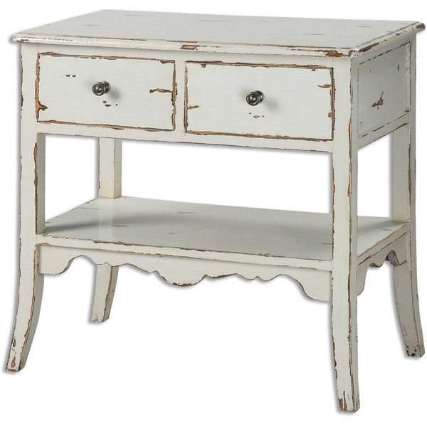 Distressed Seaside Accent Table ($775) ❤ liked on Polyvore featuring home, furniture, tables, accent tables, home decor, casa, filler, antique wash table, grey table et weathered table