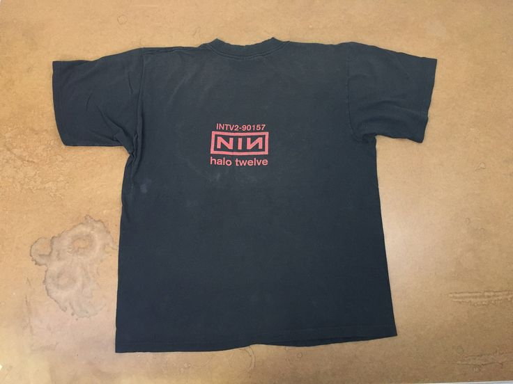 NINE Inch NAILS Shirt 90s NIN Vintage Halo Twelve Tour Intv2-90157 Tshirt  Industrial Rock Goth Manson Band Reznor UsA Made Large Tee by sweetVTGtshirt on Etsy #NIN #bandtee #90sfashion #90s #rock #goth