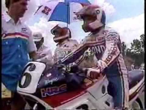 1987 Laguna: Wayne Rainey Smokes 'Em From The Last Row - YouTube