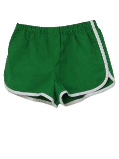 1970's racer-leg shorts, everyone wore these, guys too.  we called them jogging shorts