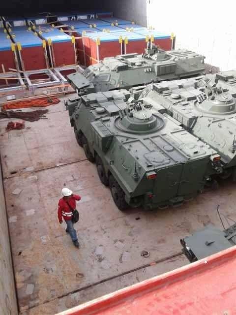 Panser Amfibi BTR-4M Pesanan Korps Marinir TNI AL Tiba Di Indonesia  Read More http://www.hobbymiliter.com/4118/panser-amfibi-btr-4m-pesanan-korps-marinir-tni-al-tiba-di-indonesia/