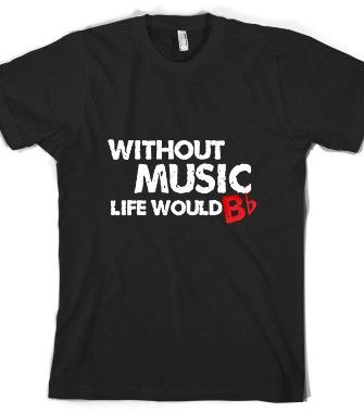 Check out my new design on @Skreened Tees . Without Music, Life Would B Flat