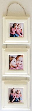 Collage Picture Frame Set- Three Hanging 4x4 Frames