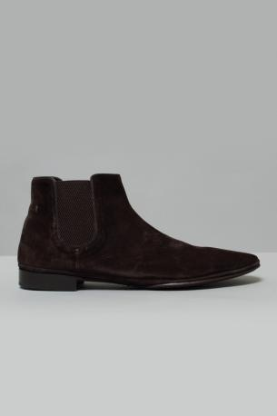 Suede Ankle Boots Dorian from Alberto Fasciani. Leather sole. Available color: cashmere africa Ignis teak