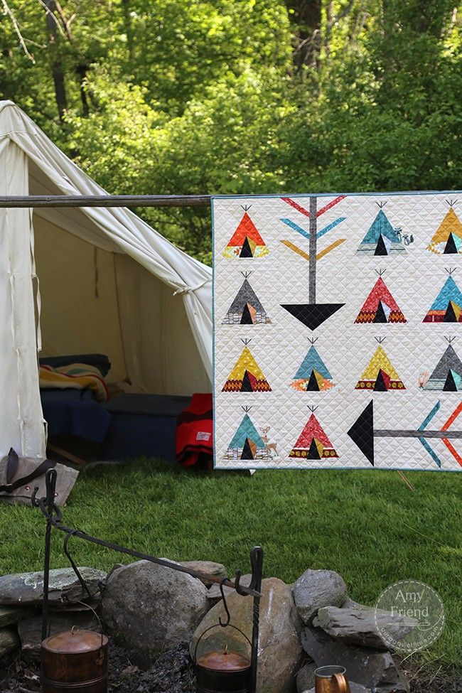 My Tribe Quilt by Amy Friend from Intentional Piecing