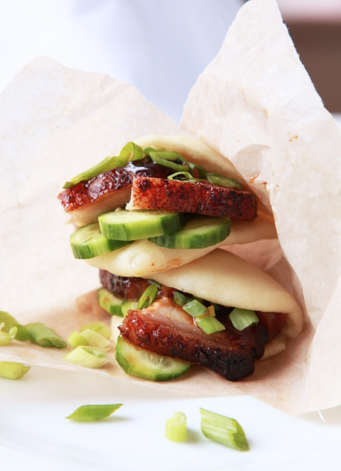 momofuku pork belly buns | Feed My Belly | Pinterest