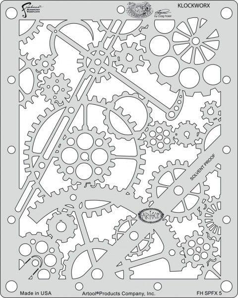 Artool   Mini Schablonen Set   Steampunk FX
