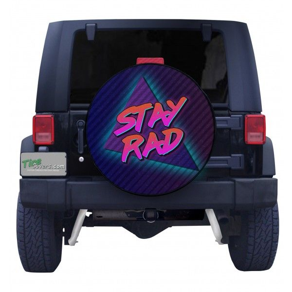 Stay Rad Jeep Spare Tire Cover Front View