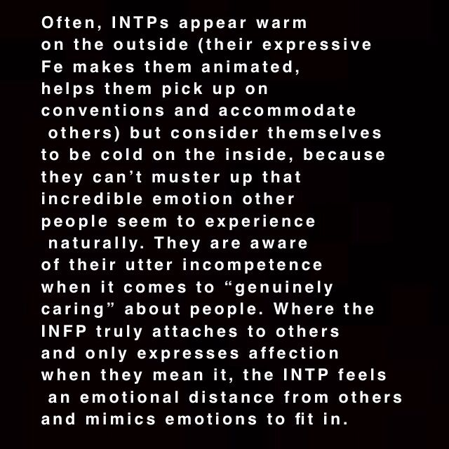 Didn't know if this was the Aspie or the INTP in me, but same.