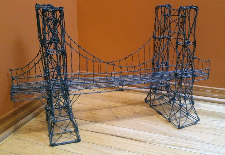 Brooklyn Bridge wire sculpture by Pottery Barn. Generally not into mass produced art, but I like this idea.