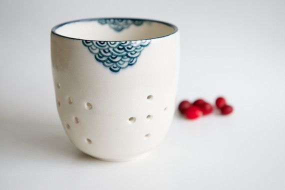 Finally, a colander that's as pretty as it is functional! Our cherries, strawberries and blueberries have never looked so fresh or tasty as when they're sitting in Ross Lab's beautiful handmade ceramic creation.  Temporarily out of stock. Please email service@brika.com if you would like to be notified when available.