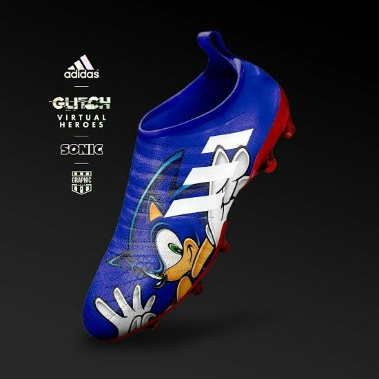 the latest 07e40 8acb0 Spectacular adidas Glitch Virtual Heroes Sonic  futbolbotines