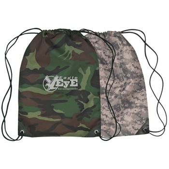Camouflage Custom Drawstring Bag - 14