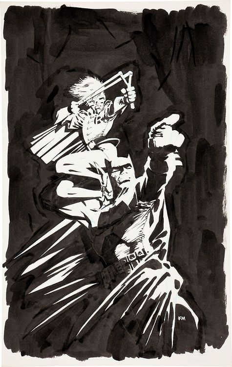 The Dark Knight Returns Original art by Frank Miller