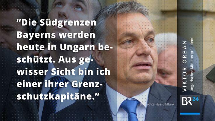 Der wegen seiner Flüchtlingspolitik umstrittene Premierminister #Orban hat den Kurs Ungarns in #Banz verteidigt.