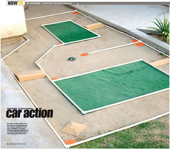 Backyard R/C Track - I would modify the materials used but love the idea.
