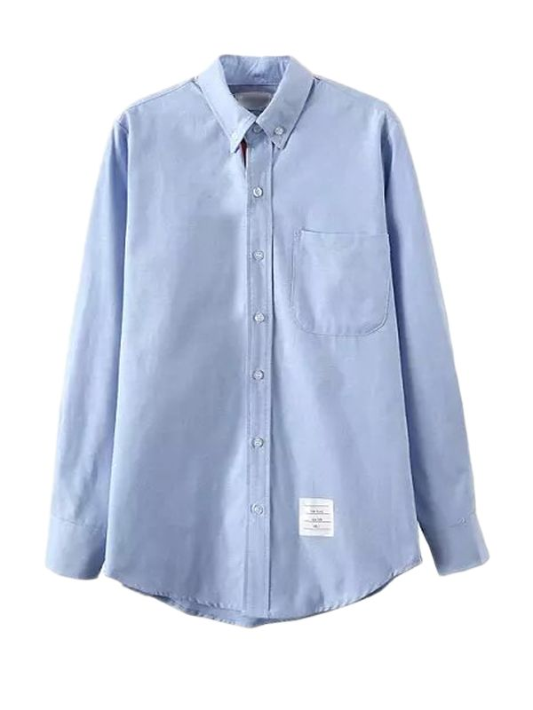 Shop Point Collar Boyfriend Shirt With Chest Pocket online at Jollychic,FREE SHIPPING!