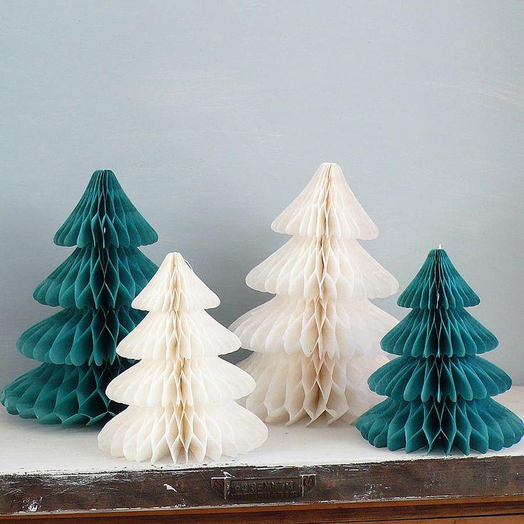 christmas paper tree decorations by lilac coast   notonthehighstreet.com