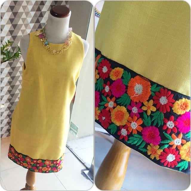 Vestido Lino amarillo