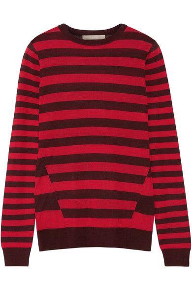 Jason Wu - Striped Silk Sweater - Red - x small