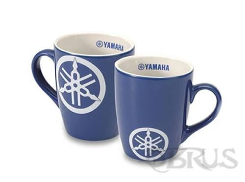 Yamaha Tuning Fork Mug Blue mug featuring our Yamaha tuning fork logo in white Stylish curved shape made from ceramic With Yamaha logo on the in and outside £7.91 inc vat per Mug. All available to order from QBRUS 01621 893227