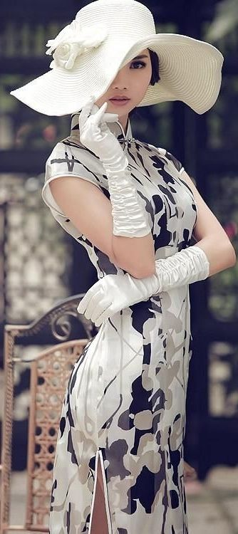 qipao - cheongsam - Chinese dress women fashion outfit clothing style apparel @roressclothes closet ideas