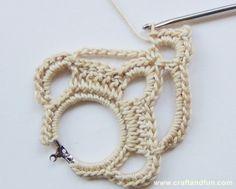 Tutorial - earrings crochet