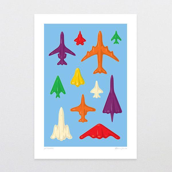Jet Planes - Art Print by Glenn Jones Art - art to make you smile. Available in a range of sizes. Click image to buy online. www.glennjonesart.com