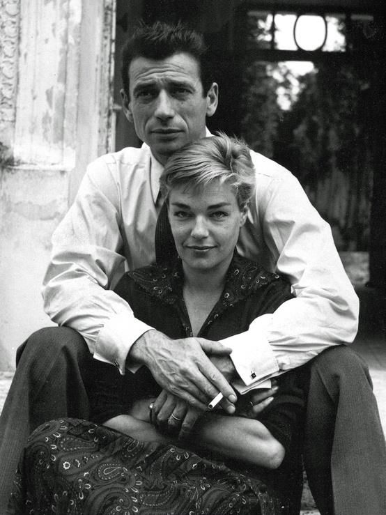 Simone Signoret et Yves Montand