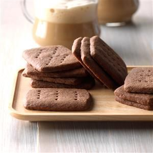 Homemade Chocolate Shortbread Recipe -This recipe has been in my files for a long time...probably from when I first learned to bake. Any chocolate lover will like these melt-in-your-mouth cookies. I make them year-round with variations. They're even richer with a thin coat of icing or as a sandwich cookie with frosting in the middle. —Sarah Bueckert, Austin, Manitoba