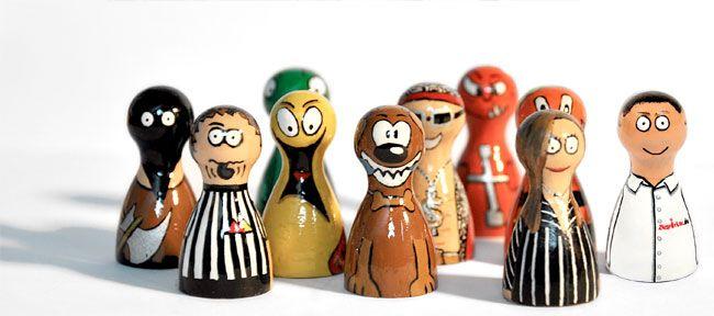 Lupos Pimfe sind handbemalte Spielfiguren aus Holz. Fotos: lupos-pimfe.de. Montage: Sebastian Wenzel
