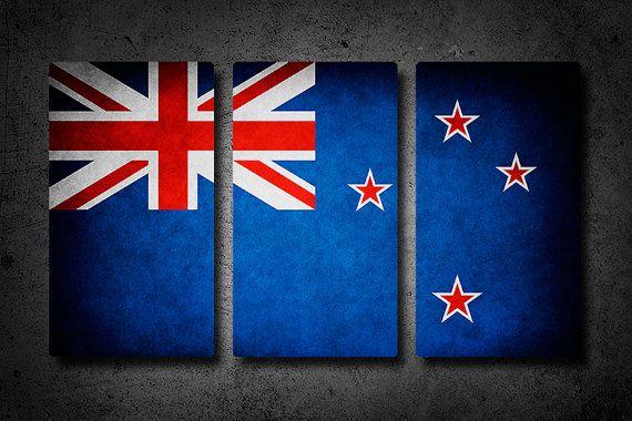 New Zealand flag art