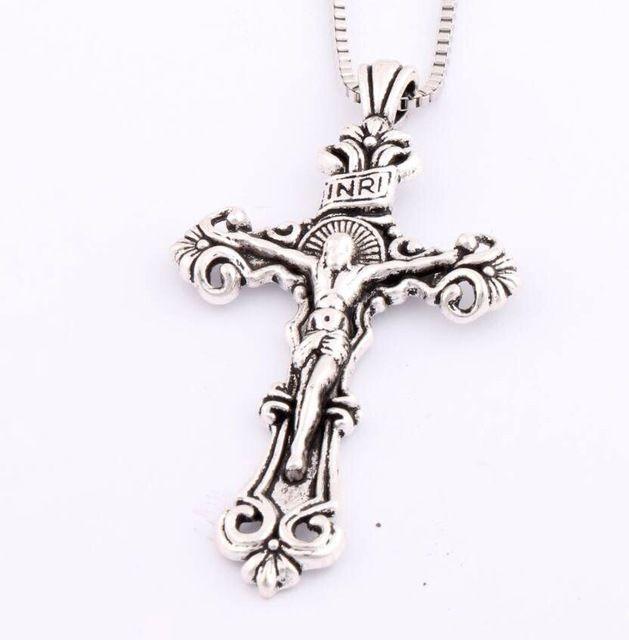 Antique Traditional Large Crucifix Pendant Necklaces Cross Medallion Necklsces #Unbranded #classic
