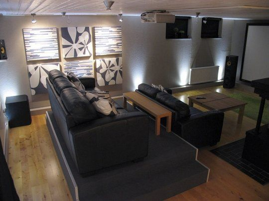 Not a bad seat in the house diy home theater with - Home theater stadium seating design ...