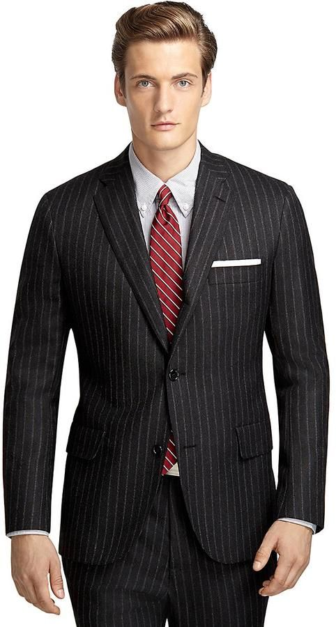 CHY FASHION FINDER.: Own Make 101 Chalk Stripe Hopsack Suit by Brooks B...