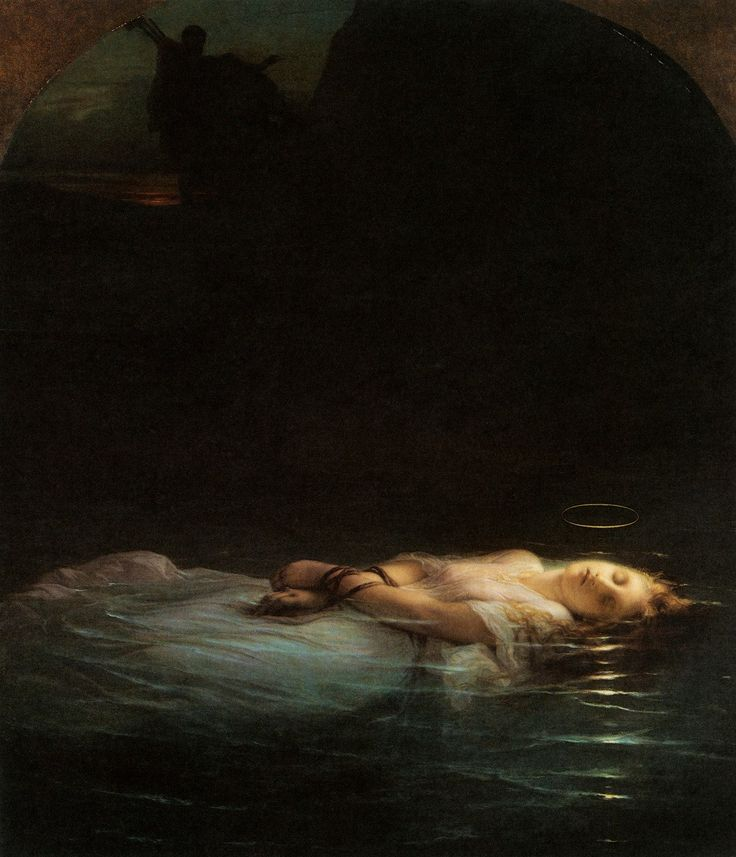~ Paul Delaroche, The Young Martyr, 1853    Saw this in the Louvre...absolutely beautiful