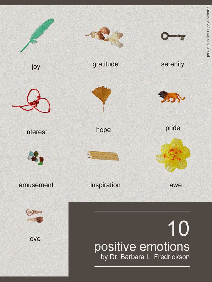 top 10 positive emotions by Barbara Fredrickson