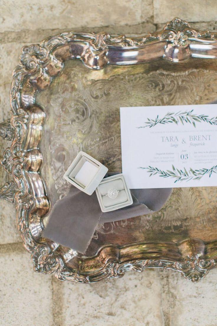 Chic Backyard Garden Wedding - stationery and ring