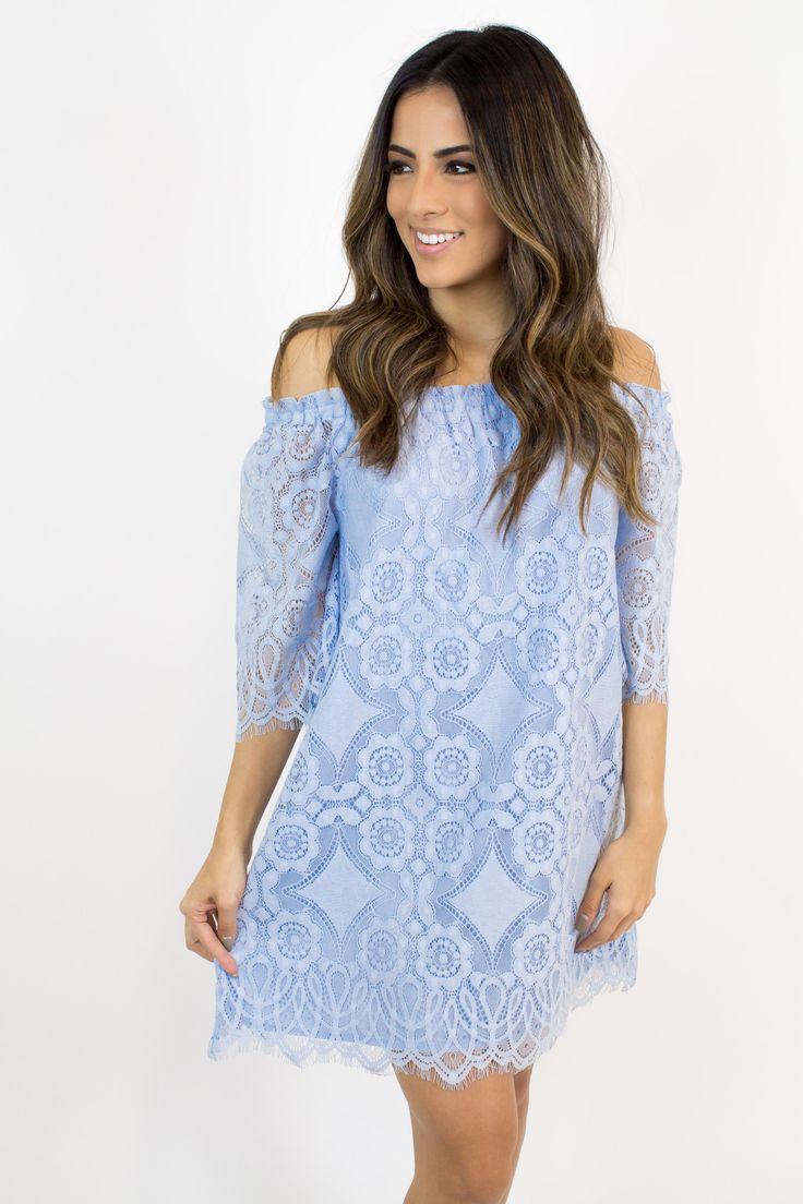 The dress is blue or white - Light Blue Lace Dress Jack By Bb Dakota