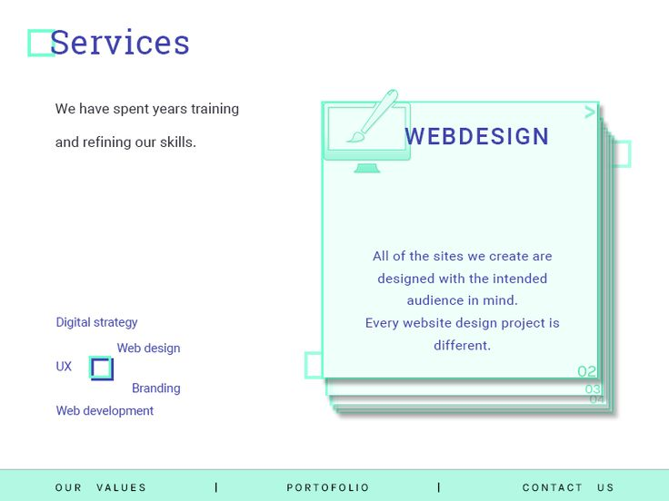 Services Section (Creative agedncy) by Madalina Taina