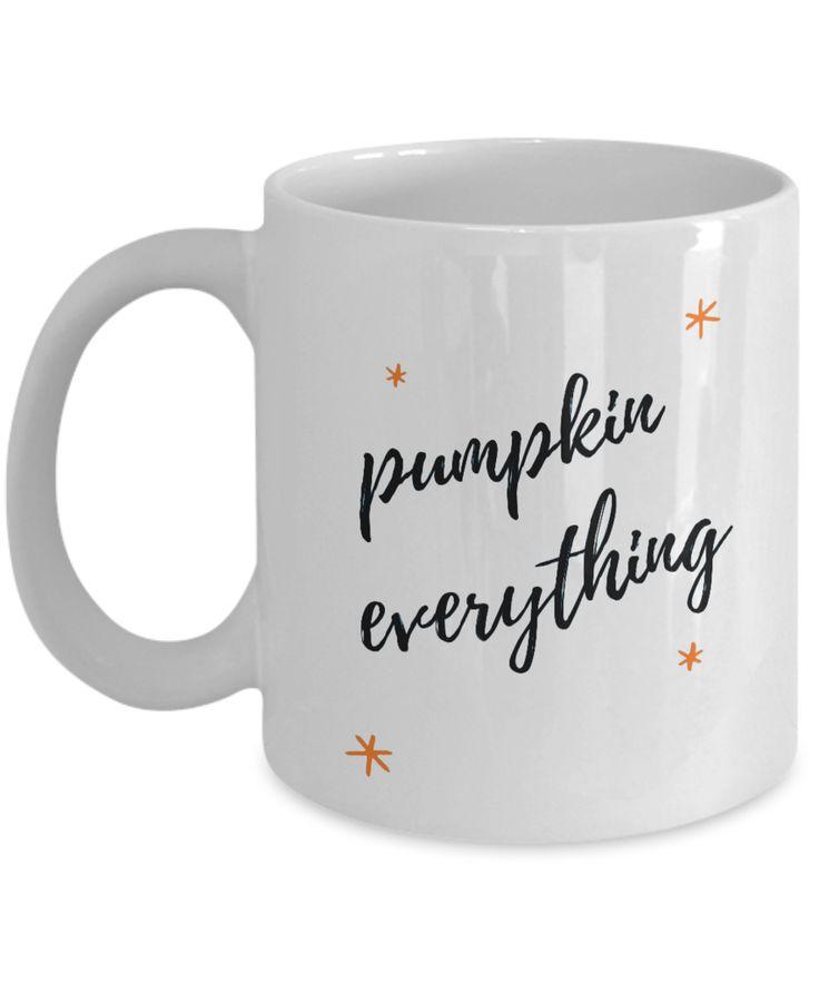 Pumpkin Everything Coffee Mug 2 Gift Tea Cup White