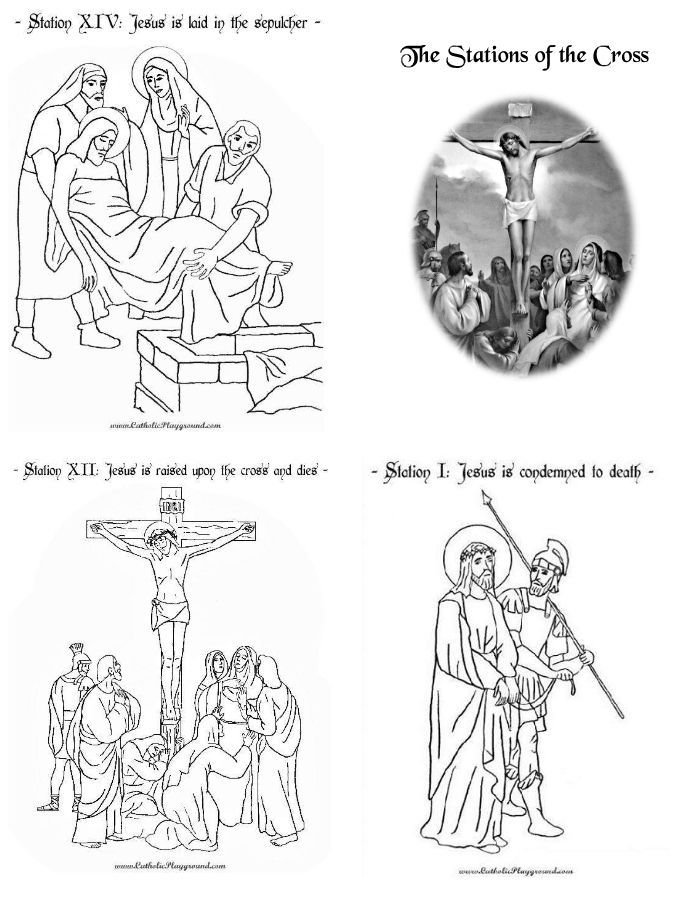 It is a graphic of Genius Printable Stations of the Cross Catholic